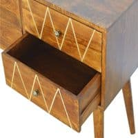 Quinora Console Table - Brass Inlay | Home Furniture